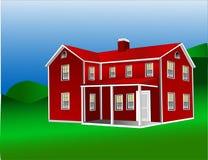 1 американский сельский дом Бесплатная Иллюстрация