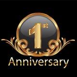 1-ая первая годовщина Стоковые Изображения