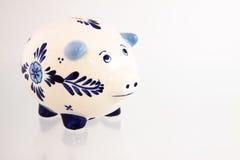 1 банк голубой delft piggy Стоковые Фотографии RF