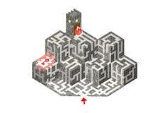 1 башня ключевого лабиринта 2 находок открытая Стоковые Фото