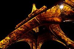 1 башня ночи eiffel Стоковое Фото