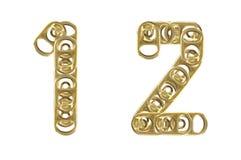 1 белизна кольца тяги 2 изолированная ba номеров Стоковые Изображения RF