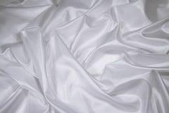 1 белизна сатинировки ткани silk Стоковая Фотография RF