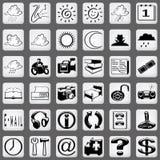 1 белизна части иконы установленная Стоковое Изображение