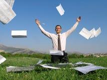 1 бизнесмен счастливый Стоковая Фотография RF