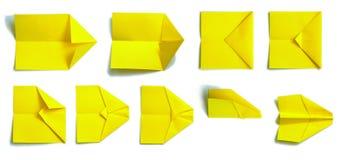 1 бумажная плоскость Стоковая Фотография