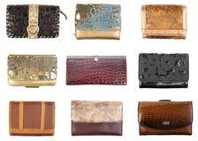 1 бумажники изолированные собранием Стоковая Фотография RF