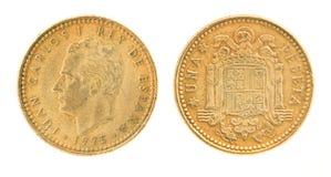 1 бывшее una испанского языка peseta дег Стоковое фото RF