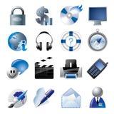 1 вебсайт интернета икон сини иллюстрация вектора