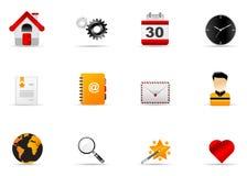 1 вебсайт melo интернета иконы установленный Стоковое Фото