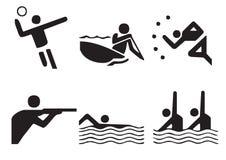 1 вектор символов спортов Стоковое Фото