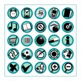 1 версия 2 икон полезная Стоковая Фотография RF