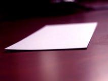 1 визитная карточка Стоковое Изображение