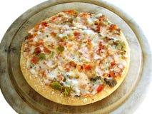 1 включенный veggie пиццы путя Стоковые Изображения