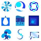 1 вода логоса Стоковые Фотографии RF