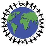1 вокруг мира рук Стоковые Фотографии RF