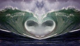 1 волна сердца Стоковые Фотографии RF