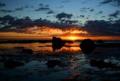 1 восход солнца океана Стоковые Изображения