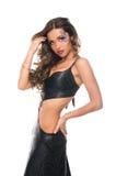 1 выражение лица девушки танцы брюнет сексуальное Стоковое Изображение RF