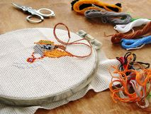 1 вышивка стоковое изображение rf