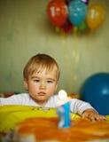 1 год мальчика s дня рождения младенца Стоковое Изображение