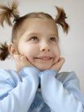 1 голубая девушка Стоковое Фото