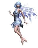 1 голубая fairy ледистая зима иллюстрация вектора
