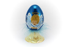 1 голубое темное пасхальное яйцо Стоковая Фотография RF