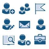 1 голубой комплект иконы Стоковое Изображение RF