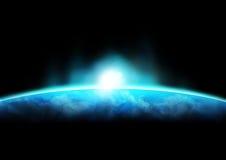 1 горизонт земли стоковое фото rf