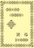 1 граница классическая Стоковая Фотография RF