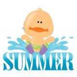 1 графическое лето выплеска Стоковая Фотография RF