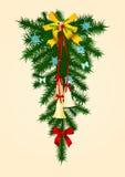 1 дверь украшения рождества бесплатная иллюстрация