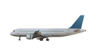 1 двигатель изолированный авиалайнером Стоковое Фото