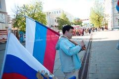 1 демонстрация дня может penza Россия Стоковое Фото