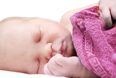 1 день младенца старый стоковая фотография