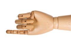 1 деревянное руки перста людское Стоковое Изображение