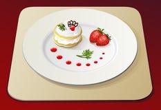 1 десерт отсутствие клубники Стоковая Фотография