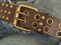 1 джинсовая ткань пояса стоковые фото