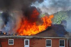 1 дом пожара Стоковое фото RF