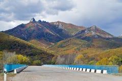 1 дорога гор Стоковые Фотографии RF