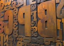 1 древесина печатания блоков стоковые фото
