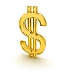 1 желтый цвет знака доллара 3d Стоковые Фотографии RF