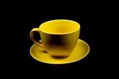 1 желтый цвет кофейной чашки Стоковое Изображение