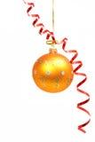 1 желтый цвет ленты сферы праздничного цвета красный Стоковое Изображение RF