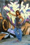 1 женщина красивейшей черной надписи на стенах возмужалая Стоковое Изображение