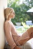 1 женщина профиля цветка bali малая Стоковые Фотографии RF