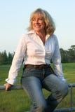 1 женщина страны западная Стоковые Фотографии RF