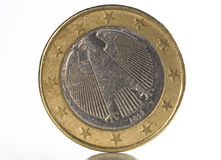 1 заднее евро Стоковое Изображение RF