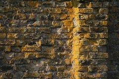 1 заход солнца кирпича старый Стоковые Фото